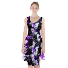 Abstract Canvas Acrylic Digital Design Racerback Midi Dress
