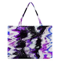 Abstract Canvas Acrylic Digital Design Medium Zipper Tote Bag