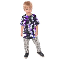 Abstract Canvas Acrylic Digital Design Kids  Raglan Tee