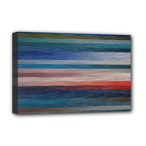Background Horizontal Lines Deluxe Canvas 18  X 12