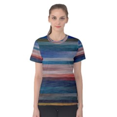 Background Horizontal Lines Women s Cotton Tee