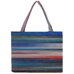 Background Horizontal Lines Mini Tote Bag