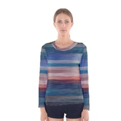 Background Horizontal Lines Women s Long Sleeve Tee