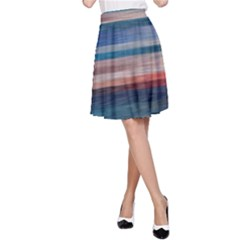 Background Horizontal Lines A Line Skirt