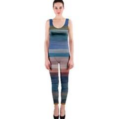 Background Horizontal Lines Onepiece Catsuit