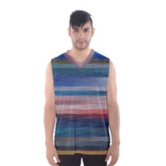 Background Horizontal Lines Men s Basketball Tank Top