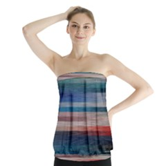 Background Horizontal Lines Strapless Top