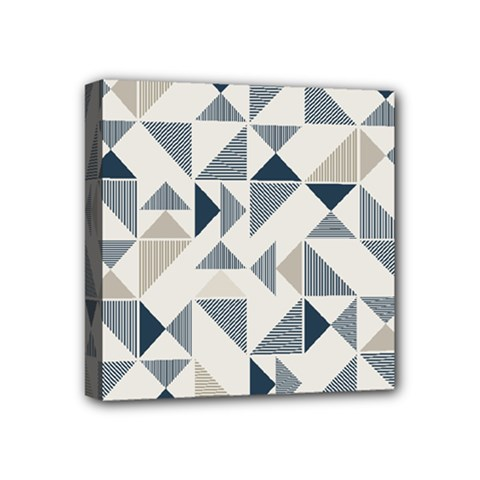 Geometric Triangle Modern Mosaic Mini Canvas 4  X 4