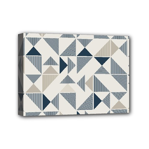 Geometric Triangle Modern Mosaic Mini Canvas 7  X 5