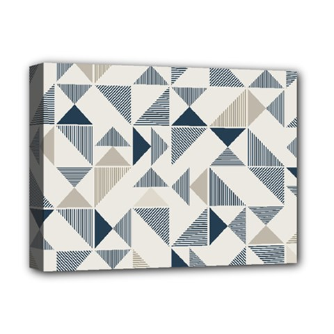 Geometric Triangle Modern Mosaic Deluxe Canvas 16  X 12
