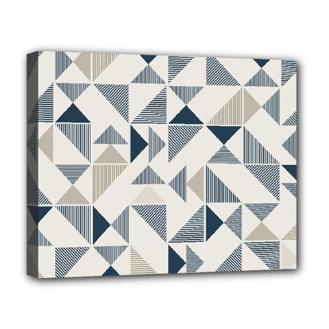 Geometric Triangle Modern Mosaic Deluxe Canvas 20  X 16