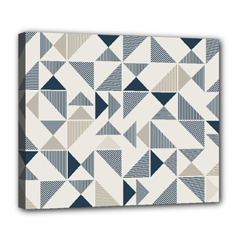 Geometric Triangle Modern Mosaic Deluxe Canvas 24  X 20