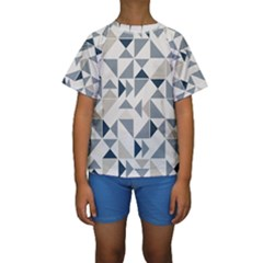 Geometric Triangle Modern Mosaic Kids  Short Sleeve Swimwear
