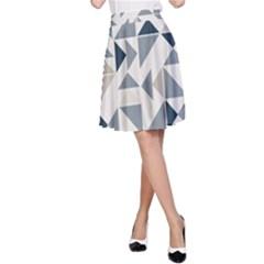 Geometric Triangle Modern Mosaic A Line Skirt