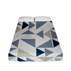 Geometric Triangle Modern Mosaic Fitted Sheet (full/ Double Size)