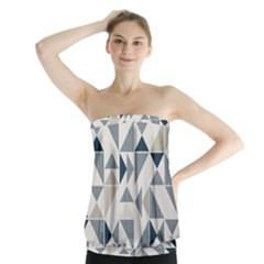 Geometric Triangle Modern Mosaic Strapless Top