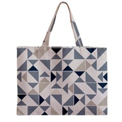 Geometric Triangle Modern Mosaic Medium Zipper Tote Bag
