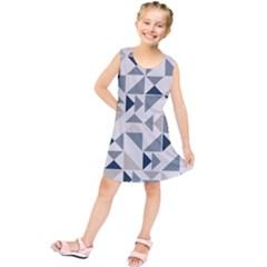 Geometric Triangle Modern Mosaic Kids  Tunic Dress