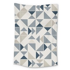 Geometric Triangle Modern Mosaic Large Tapestry