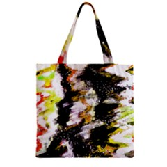 Canvas Acrylic Digital Design Art Zipper Grocery Tote Bag