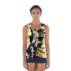 Canvas Acrylic Digital Design Art Women s Sport Tank Top