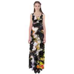 Canvas Acrylic Digital Design Art Empire Waist Maxi Dress