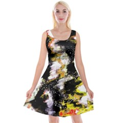 Canvas Acrylic Digital Design Art Reversible Velvet Sleeveless Dress