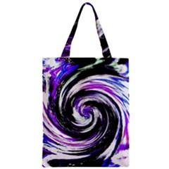 Canvas Acrylic Digital Design Zipper Classic Tote Bag