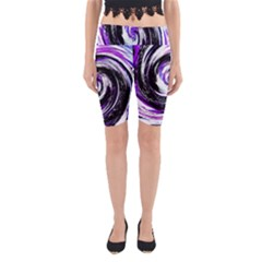 Canvas Acrylic Digital Design Yoga Cropped Leggings