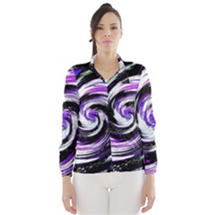 Canvas Acrylic Digital Design Wind Breaker (women)