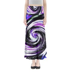 Canvas Acrylic Digital Design Maxi Skirts