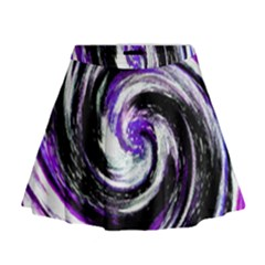 Canvas Acrylic Digital Design Mini Flare Skirt