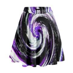 Canvas Acrylic Digital Design High Waist Skirt