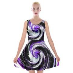 Canvas Acrylic Digital Design Velvet Skater Dress