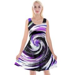 Canvas Acrylic Digital Design Reversible Velvet Sleeveless Dress