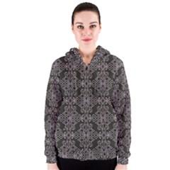 Line Geometry Pattern Geometric Women s Zipper Hoodie