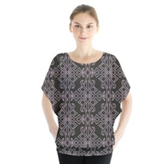 Line Geometry Pattern Geometric Blouse