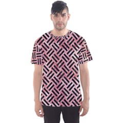 Woven2 Black Marble & Red & White Marble (r) Men s Sports Mesh Tee