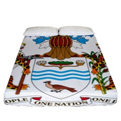 Coat Of Arms Of Guyana Fitted Sheet (california King Size)