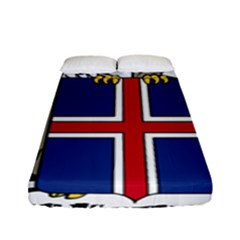 Coat Of Arms Of Iceland Fitted Sheet (full/ Double Size)