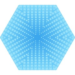 Blue Stars Background Line Mini Folding Umbrellas