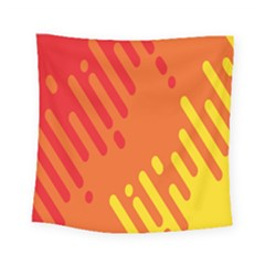 Color Minimalism Red Yellow Square Tapestry (small)