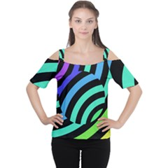 Colorful Roulette Ball Women s Cutout Shoulder Tee