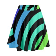 Colorful Roulette Ball High Waist Skirt