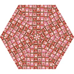 Eye Owl Colorfull Pink Orange Brown Copy Mini Folding Umbrellas