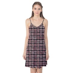 Woven1 Black Marble & Red & White Marble Camis Nightgown