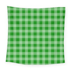 Gingham Background Fabric Texture Square Tapestry (large)