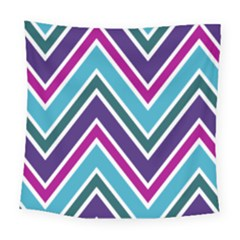 Fetching Chevron White Blue Purple Green Colors Combinations Cream Pink Pretty Peach Gray Glitter Re Square Tapestry (large)