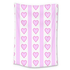 Heart Pink Valentine Day Large Tapestry