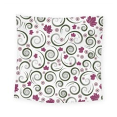 Leaf Back Purple Copy Square Tapestry (small)